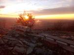 Закат на вершине горы Машук. Круговая панорама
