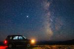 Ночное небо с плато Шатджатмаз. Удивительные виды на Эльбрус